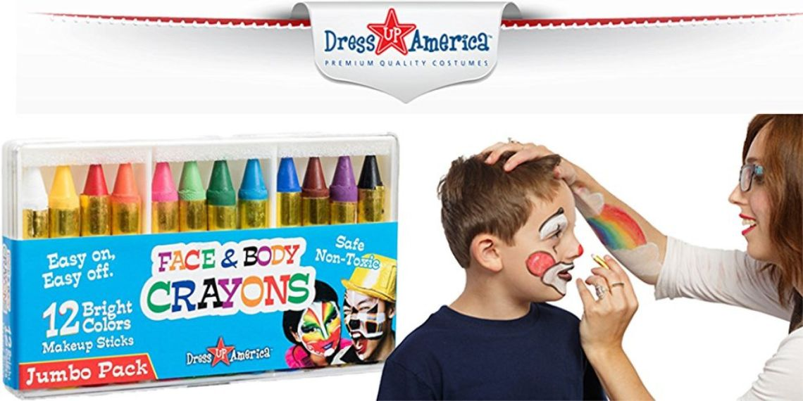 Amazon.com: Dress Up America 12 Color Face Paint Safe & Non-Toxic Face and Body Crayons - Halloween Makeup - Made In Taiwan: Toys & Games