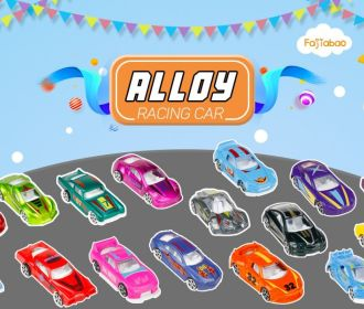 Buy 16 Pcs Race Car Metal Diecast Toys for $9.48 (Reg : $13.55)