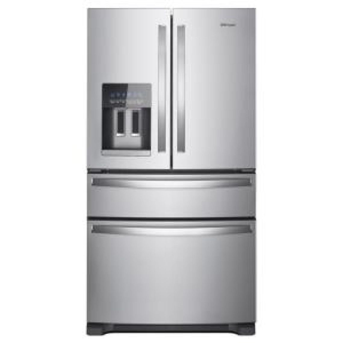 Whirlpool 36 in. W 25.0 cu. ft. French Door Refrigerator in Fingerprint Resistant Stainless Steel-WRX735SDHZ - The Home Depot