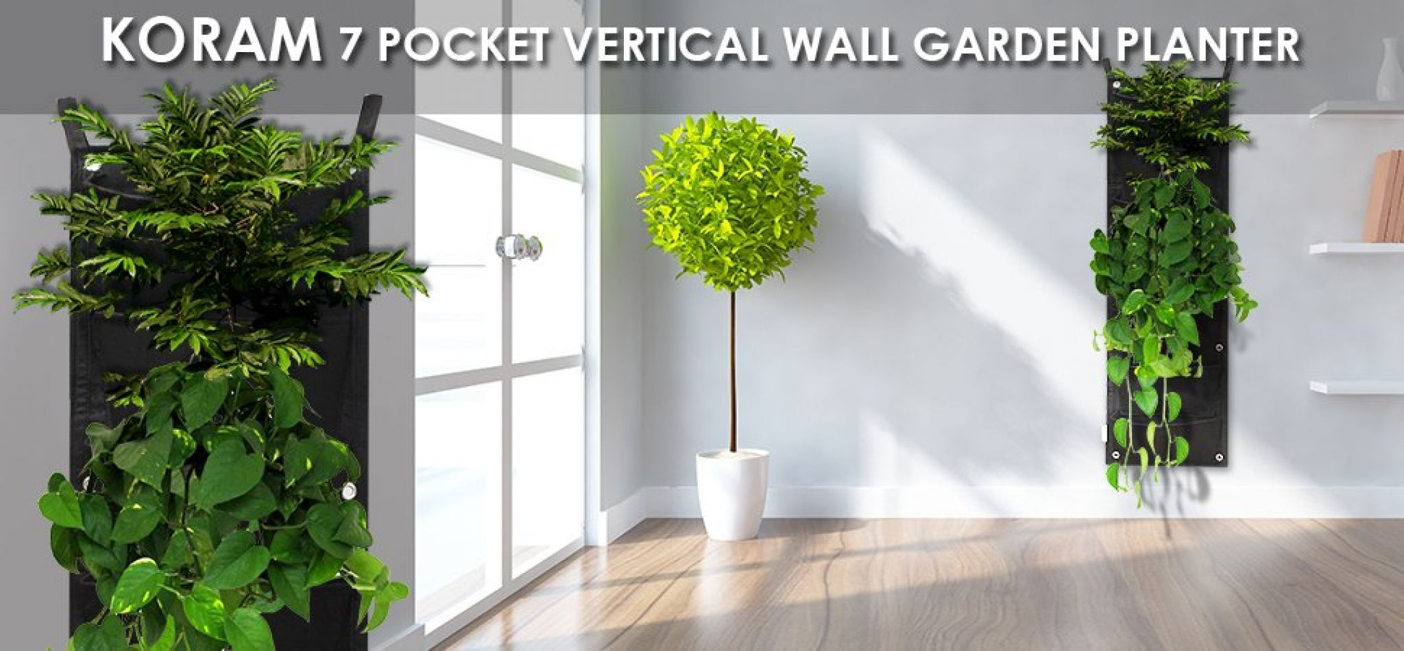 Buy 7 Pockets Vertical Garden Wall Planter Living Hanging Flower