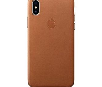 Buy Apple's official iPhone X leather case RED or Saddle Brown from $29