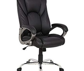Buy Swivel Office Chair, Black PU Leather for $65.40 (Reg : $104)