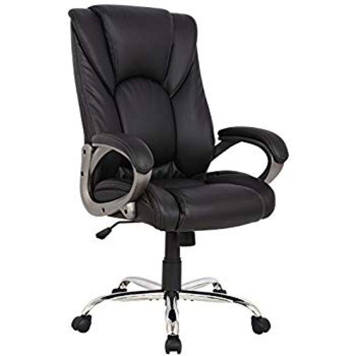 Amazon.com: VIVA OFFICE Swivel Office Chair, Black PU Leather: Kitchen & Dining