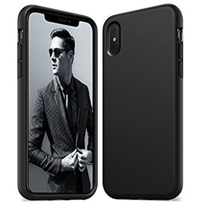Amazon.com: Anker iPhone X Silicone Case, KARAPAX Silicone Gel Rubber Shockproof Case Cover with Soft Microfiber Cloth Cushion [Support Wireless Charging] [Slim Fit] for iPhone X - Black: Cell Phones & Accessories