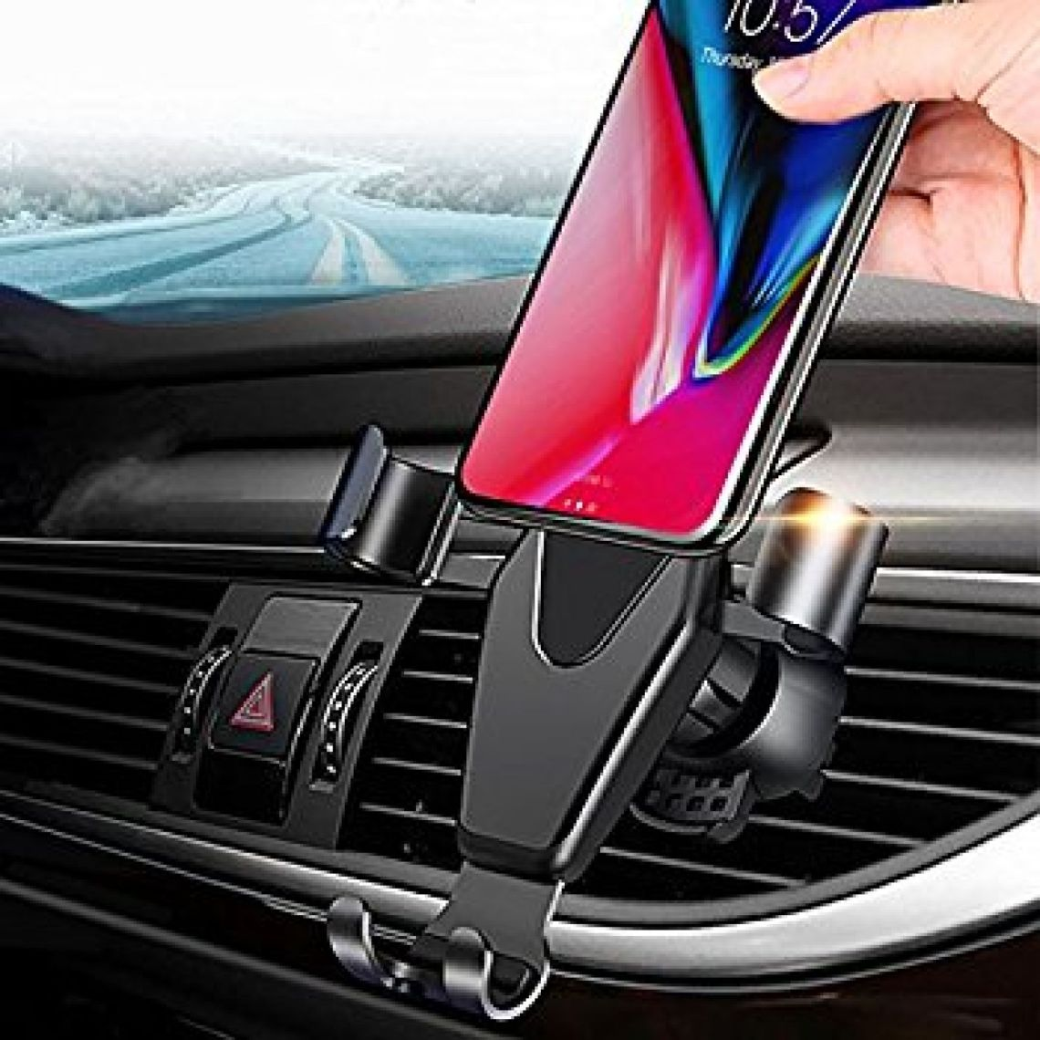 Amazon.com: Car Phone Mount, Sunhanny Universal Gravity Auto Lock Air Vent Phone Holder, Smart No Touch One Hand Operating Design for iPhone X/8/8Plus/7/7Plus/6s/6Plus, Samsung S8/S7,Huawei: Cell Phones & Accessories
