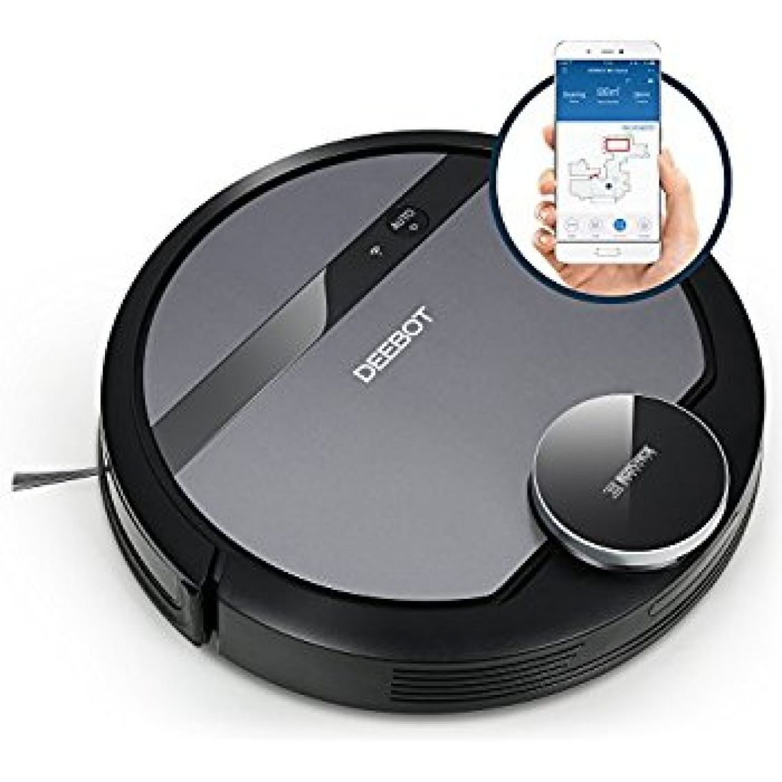 Amazon.com - ECOVACS DEEBOT 900/901 Smart Robotic Vacuum for Carpet, Bare Floors, Pet Hair, with Mapping Technology, Higher Suction Power, Wifi Connected and Compatible with Alexa and Google Assistant -