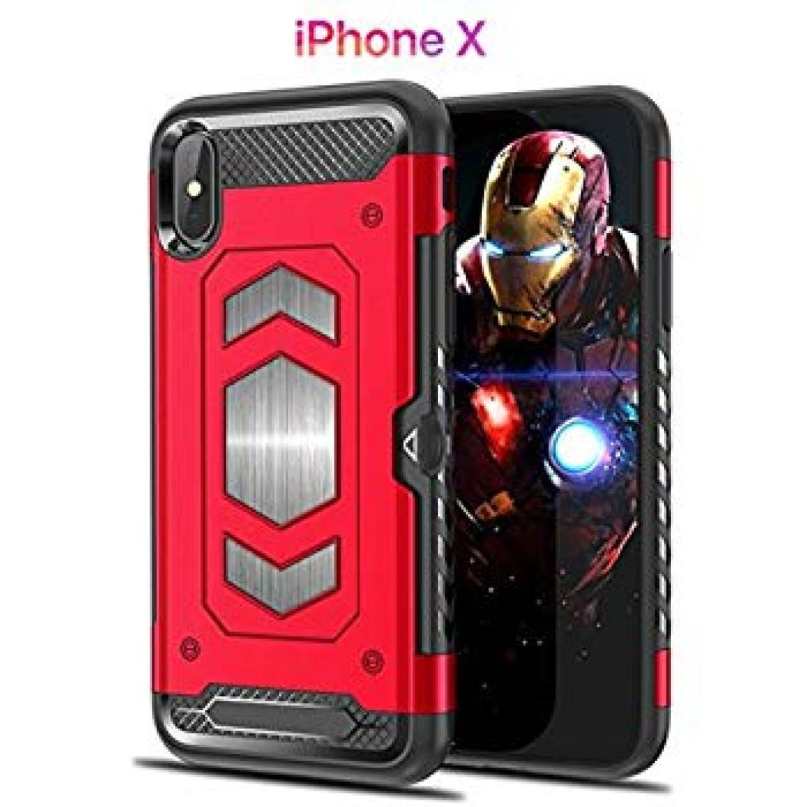 Amazon.com: Iphone X Case 3 in 1 with Magnetic Car Mount & Card Slot Holder || Robust & Protective Armor || Anti-scratch & Shockproof for Apple iPhone X: Cell Phones & Accessories
