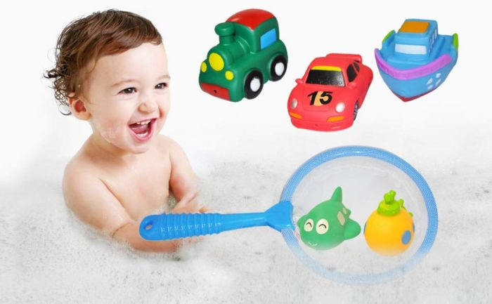 Amazon.com: Markkeer Baby Bath Toy Set,Squirts Bath Toys with Water Scoop,Pool Floating Bath Toys Make Sound & Spray Water for Kids Toddler Baby Boys Girls(6 Pack): Toys & Games