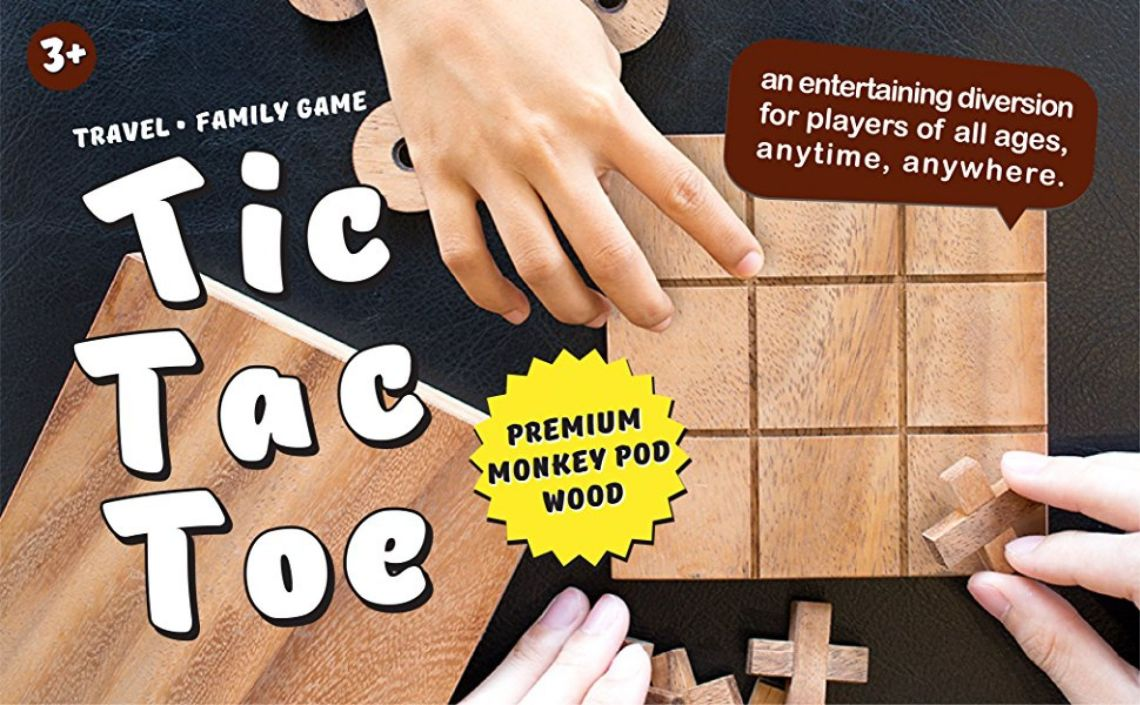 Amazon.com: BSIRI TicTacToe Classic Board Games Noughts and Crosses Family Brain Teaser Puzzle Coffee Table For Adults And Children All Ages: Toys & Games
