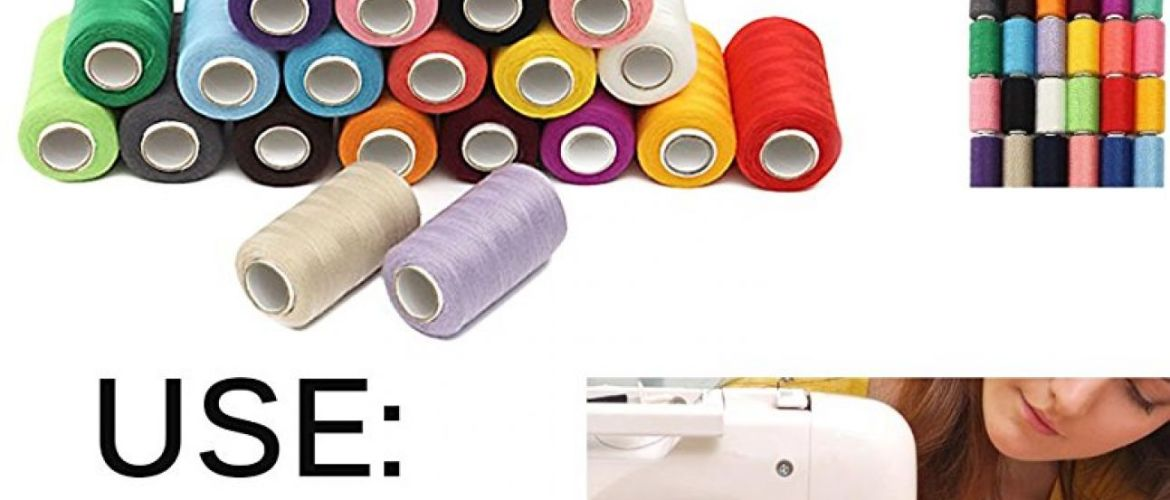 Buy 24 Assorted Colors Polyester Sewing Thread Spool for $7.99