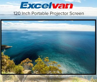 Excelvan 120″ Projection Screen for $4.80 (Was $23.99)