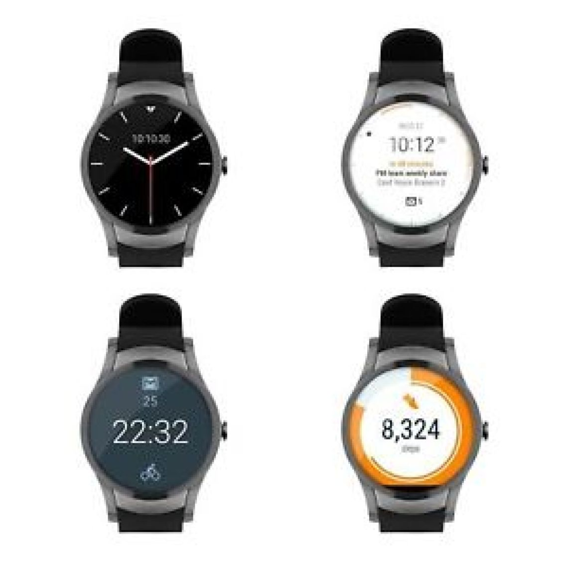 Wear24 Quanta Smartwatch by Verizon 42mm WiFi + Bluetooth Android Wear 2.0 | eBay