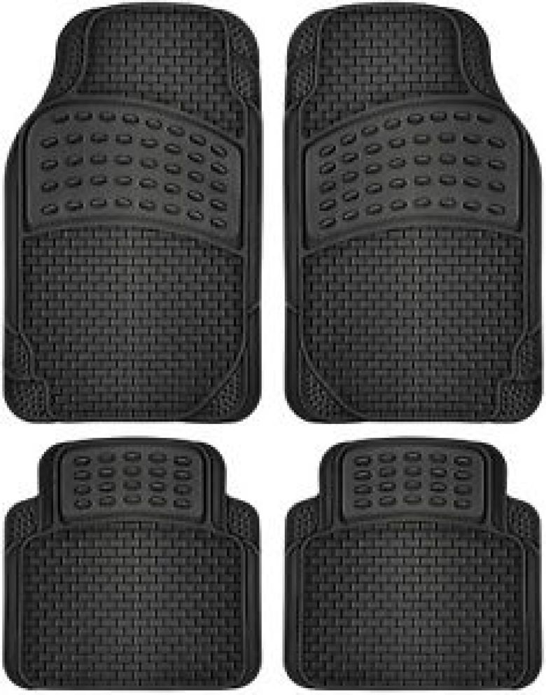 Car Floor Mats All Weather Rubber 4pc Set Semi Custom Fit Heavy Duty Black | eBay