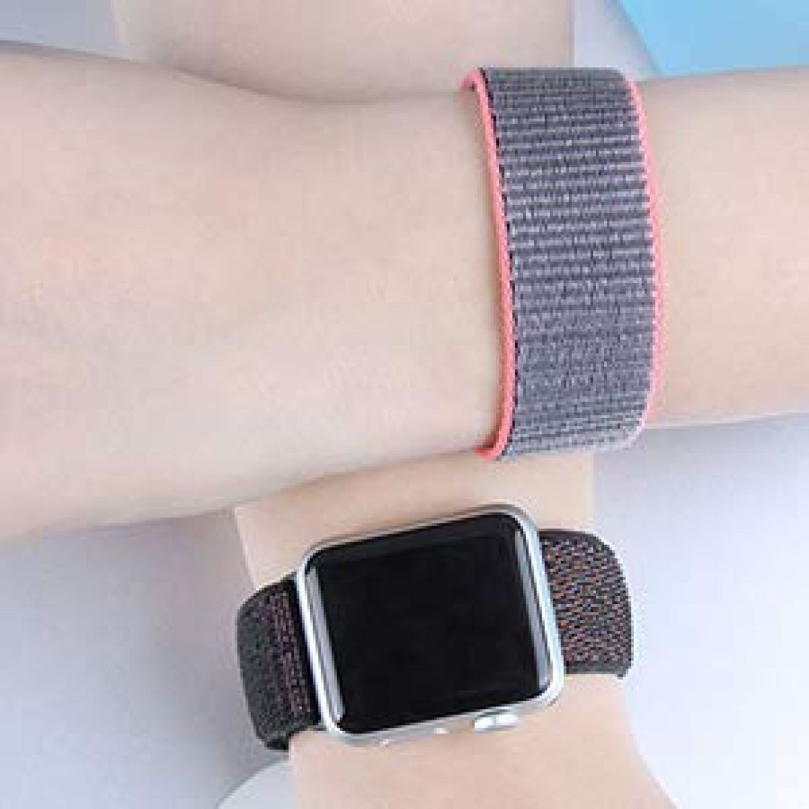 Amazon.com : For Apple Watch Band 38mm 42mm Soft Nylon Watch Sport Loop Band Adjustable Closure Wrist Strap Breathable Woven Nylon Replacement Strap for Apple Watch Series 3, 2, 1 : Sports & Outdoors