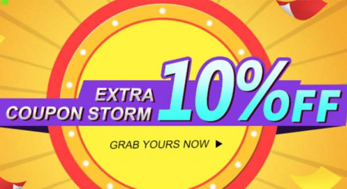 Coupon Storm EXTRA 10% OFF | Tomtop