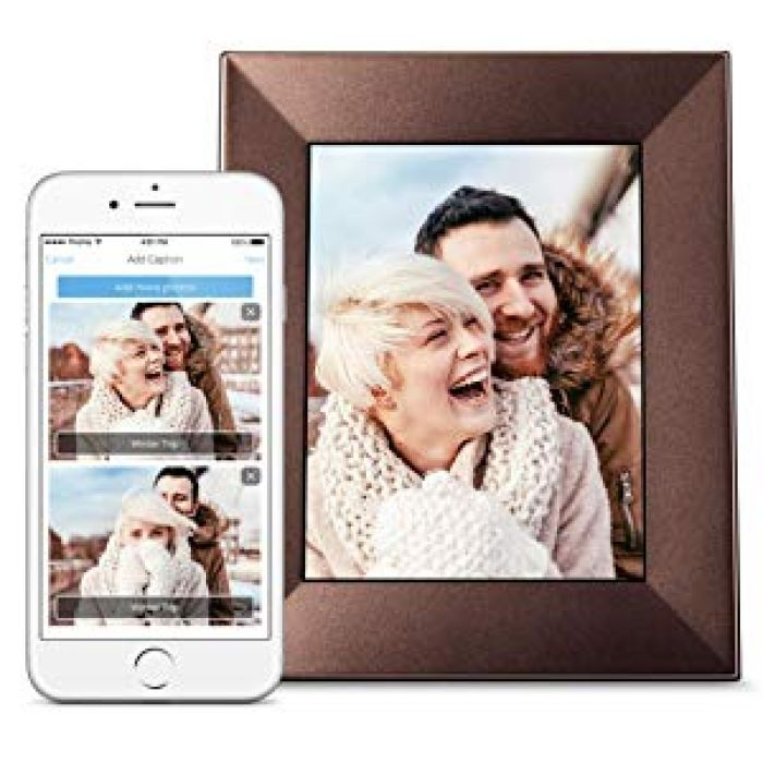 "Amazon.com : Nixplay W08E- Silver Iris 8"" Wi-Fi Cloud Digital Photo Frame with IPS Display, iPhone & Android App, iOS Video Playback, Free 10GB Online Storage, Alexa Integration and Activity Sensor, Silver : Camera & Photo"