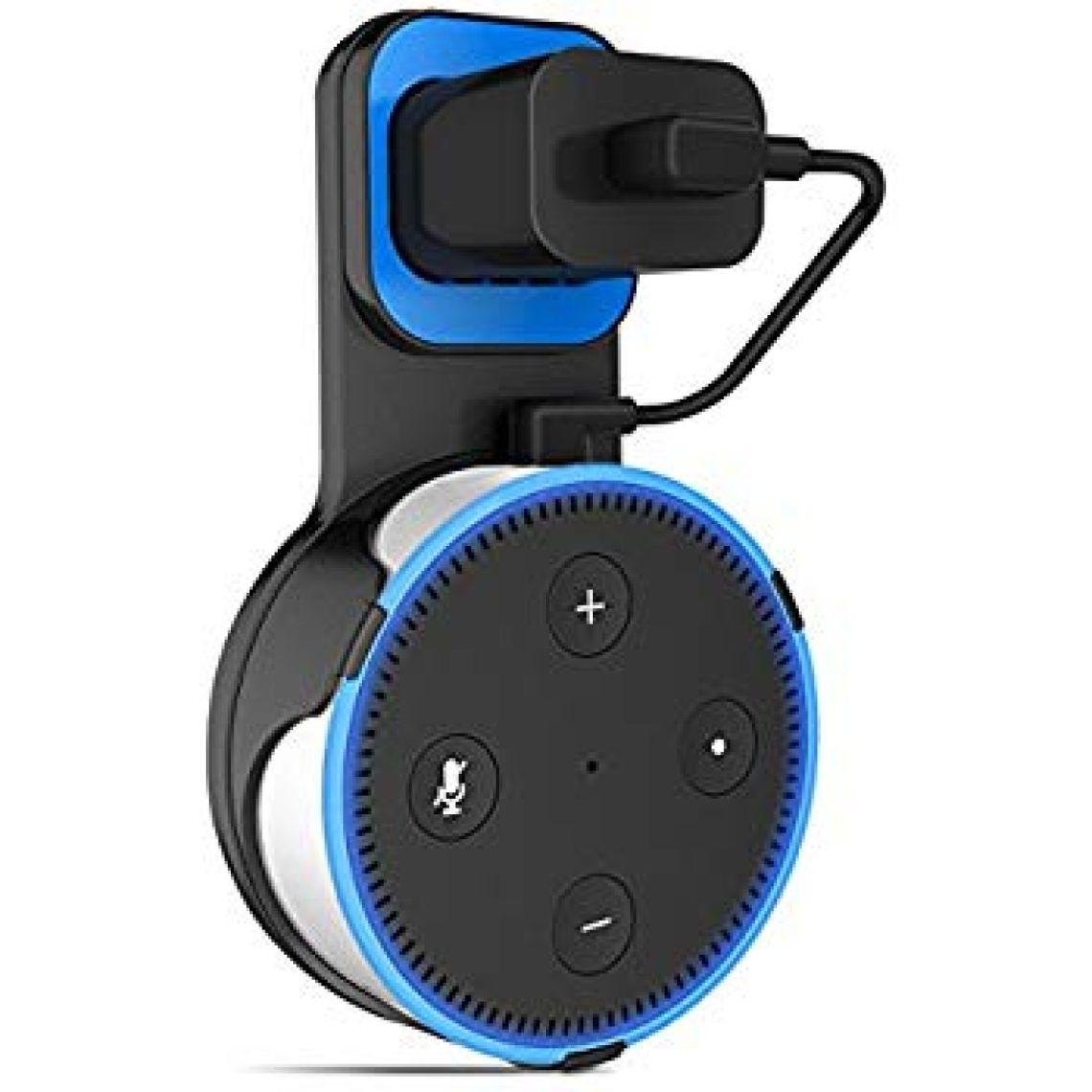 Amazon.com: EIVOTOR Outlet Wall Mount Hanger Stand for Dot 2nd Generation & Other Round Voice Assistants for Smart Home Speakers Kitchen, Bathroom, Bedroom - Black: Home Audio & Theater