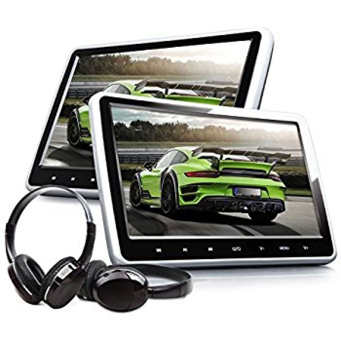 Amazon.com: Car Headrest Dvd Player, LESHP 10.1 inch Ultra-thin HD 720P Digital TFT Screen Design Car Headrest DVD Player X10D 806D 606D Multimedia Player Headrest Monitor with USB port/SD/MMC/HDMI Port: Car Electronics