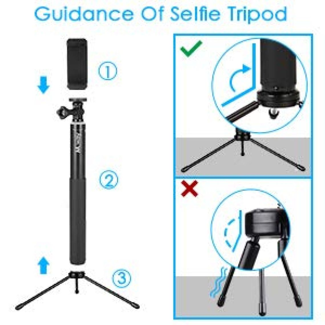 Amazon.com: MWAY Selfie Stick 2 In 1 Portable Phone Tripod Camera Stand with Remote Control And Universal Phone Holder, Extendabale Monopod for iPhone X/8/7/6, Galaxy Note 8/S8, Gopros, Mini SLR Camera black: Home Improvement