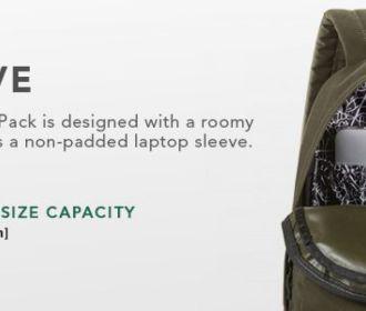 Buy Backpack – Built-in Laptop Sleeve for $17.99 (Reg : $48)