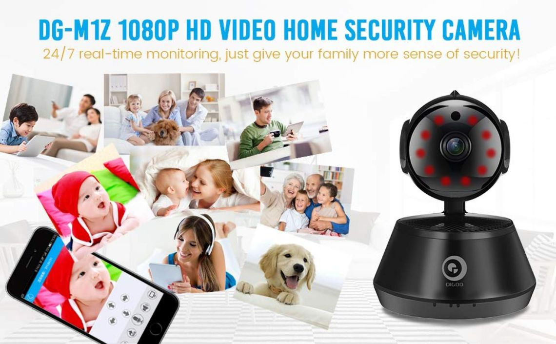 Amazon.com : Home Security Camera, DIGOO-M1Z 1080P Wireless Wifi IP Camera, Baby Monitor, Surveillance System with Pan/Tilt/Zoom Function, Night Vision, Motion Detection, ONVIF Support, Remote Control, Black : Camera & Photo