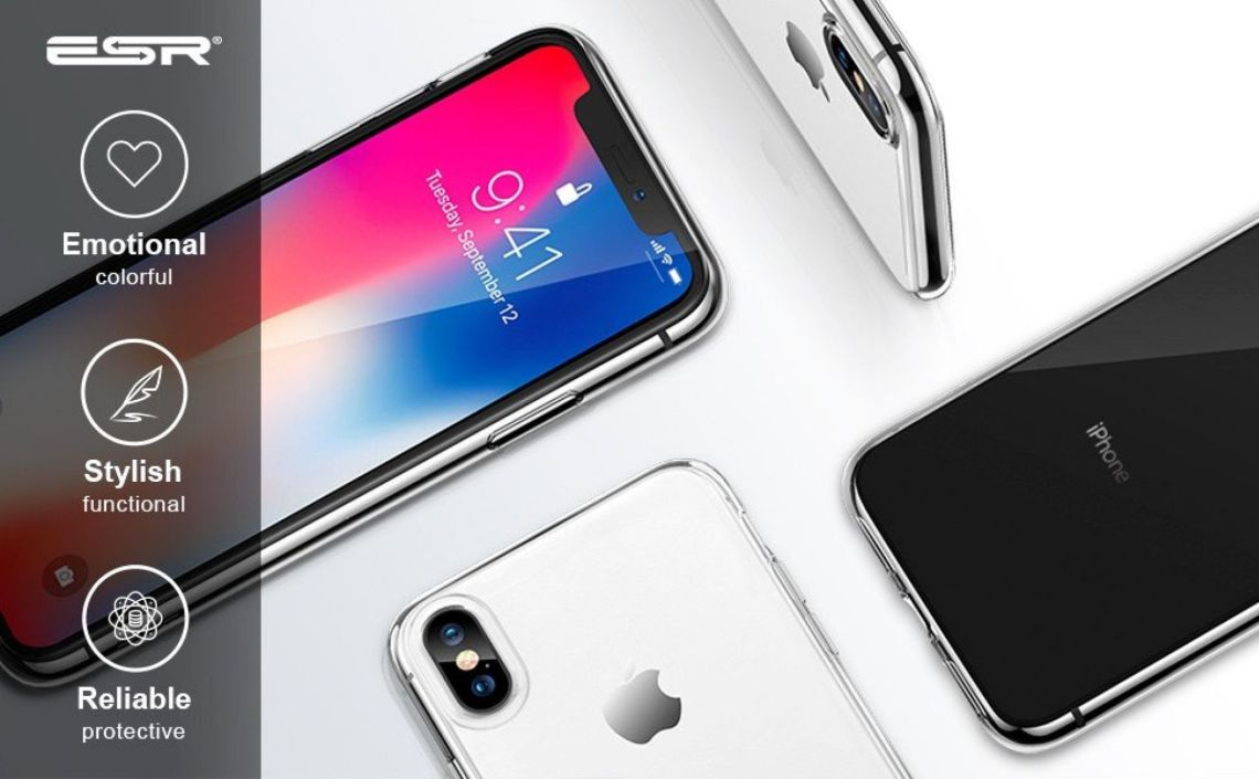 Amazon.com: ESR Slim Clear Soft TPU Case for iPhone Xs/ iPhone X, Soft Flexible Cover Compatible for 5.8 inch(2017 & 2018 Release)(Jelly Clear): Cell Phones & Accessories