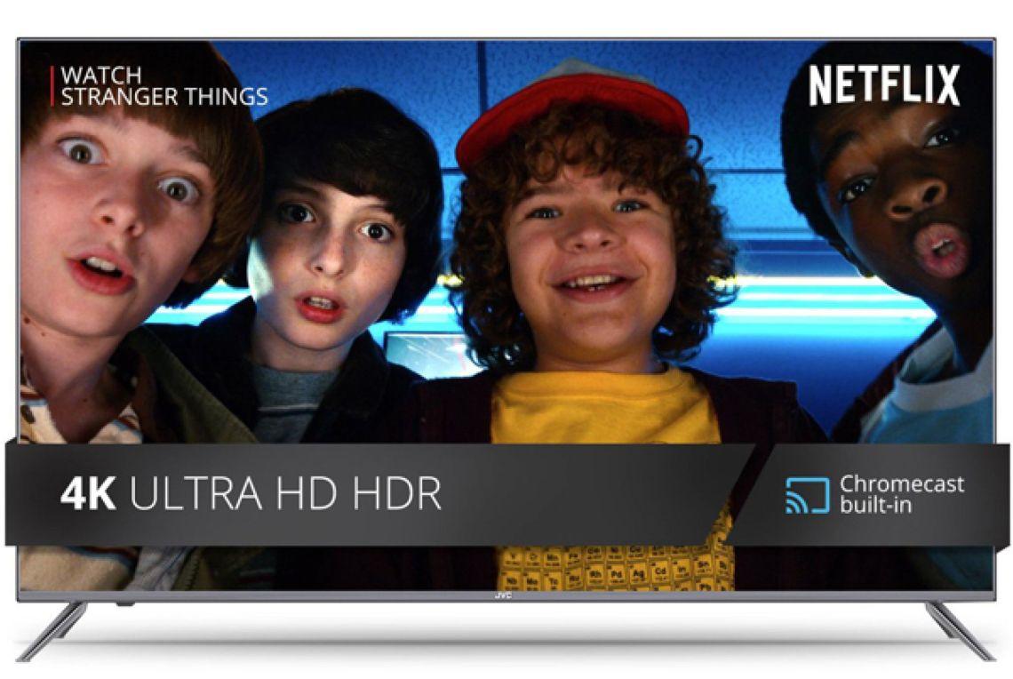 "JVC 49"" Class 4K Ultra HD (2160P) HDR Smart LED TV with Built-in Chromecast (LT-49MA875) - Walmart.com"
