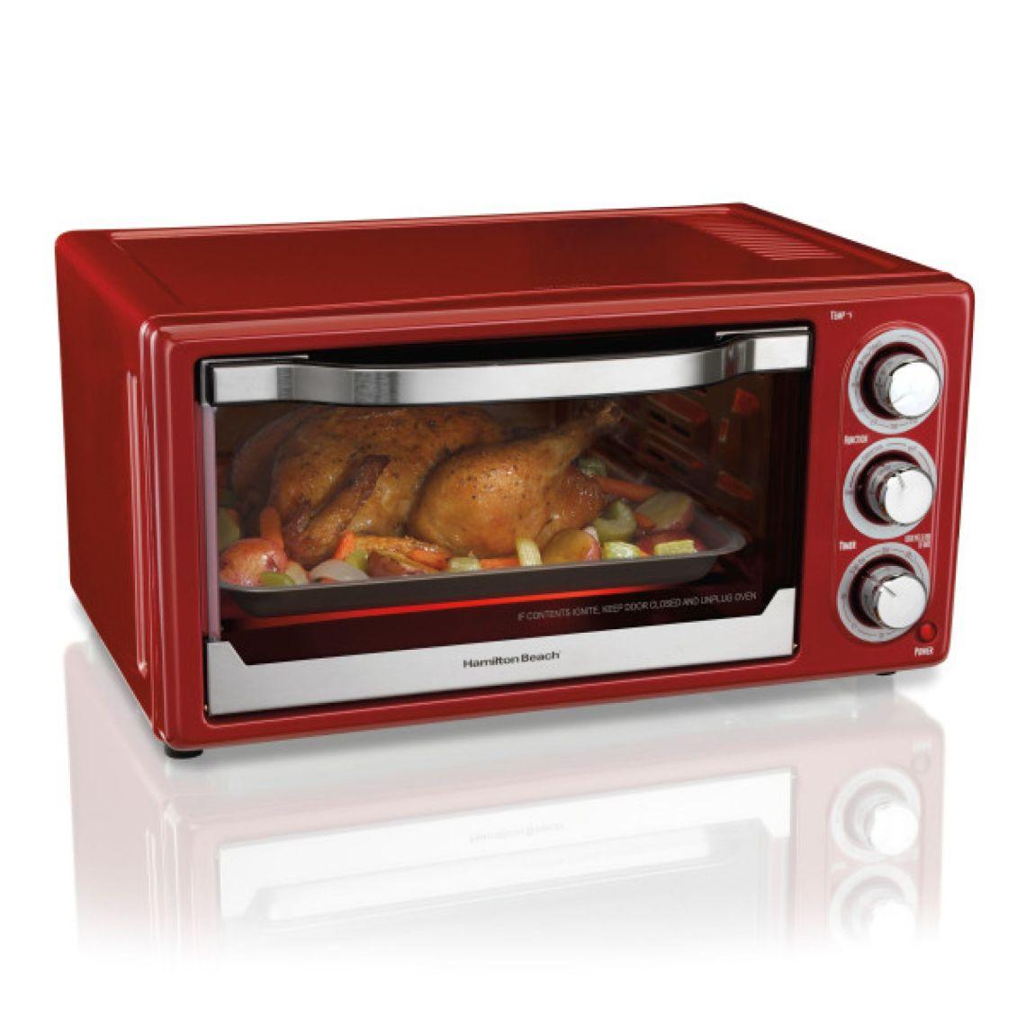 Hamilton Beach 6 Slice Toaster Convection/Broiler Oven | Red Model# 31514 - Walmart.com