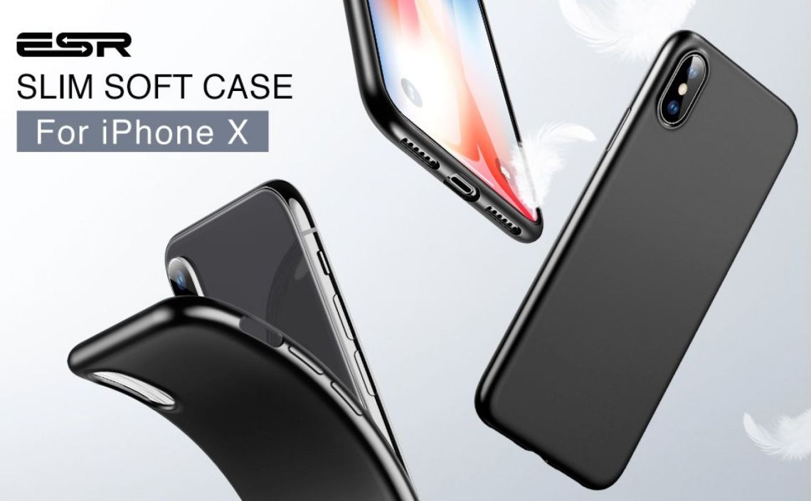 Amazon.com: ESR Case Compatible for iPhone X/XS, Slim Solid Soft TPU Cover [Support Wireless Charging] for iPhone X/iPhone XS 5.8 inch (Solid Black): Cell Phones & Accessories