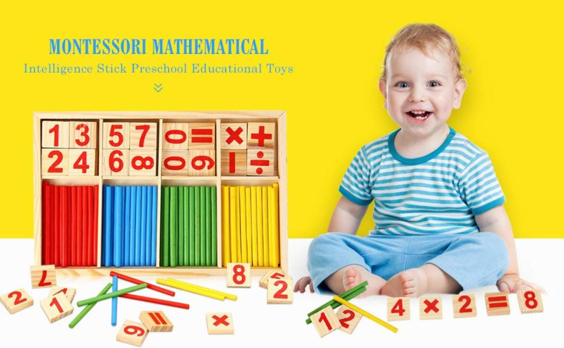 Amazon.com: Robolife Number Cards and Counting Rods ,Montessori Math Intelligence Stick Preschool Educational Toys for Kids 3+: Toys & Games