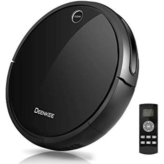 Amazon.com: Robot Vacuum Cleaner, Deenkee Automatic Vacuum Cleaner Robot with Mop for Pet Hair, Carpet and Hardwood Floor (Black): Kitchen & Dining