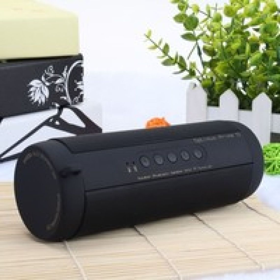 Wish | Professional IPX7 Waterproof Outdoor HIFI Column Speaker Wireless Bluetooth Speaker Subwoofer Sound Box with Flashlight Support FM Radio TF Mp3 Player Mobile Phone