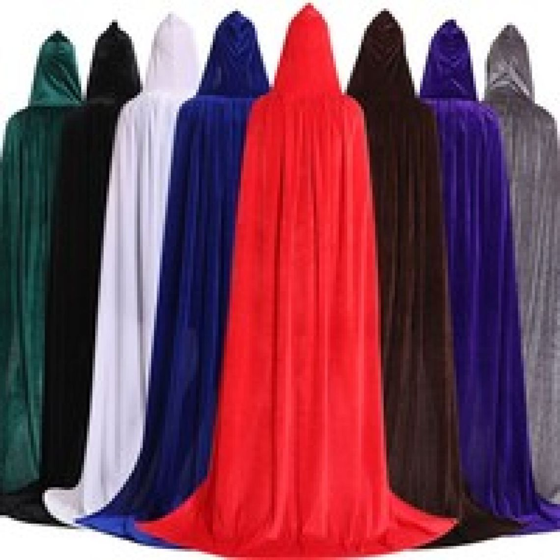 wish | Hooded Cloak Long Velvet Cape for Christmas Halloween Cosplay Costumes