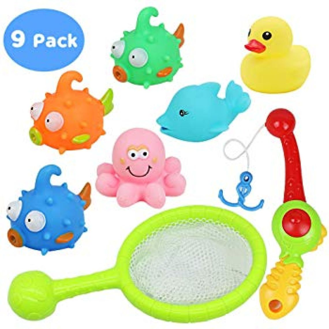 Amazon.com: yoptote Bathtub Toys Fishing Game Bath Toys Tub Water Pool Toys with Fish Octopus Dolphin Rod Net Set for Kids Toddler Boys and Girls, 8 Packs: Toys & Games