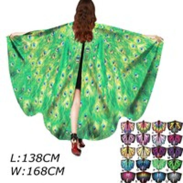 wish | New Plus Size Fashion Butterfly Wings Shawl Loose Ployter Kimono Cardigan Top Shirt Blouse Beach Scarf Pashmina Poncho Shawl Cosplay Beach Scarf
