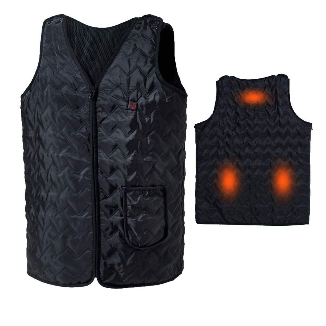 Amazon.com: Vinmori Electric Heated Vest, Washable Size Adjustable USB Charging Heated Clothing (Black): Health & Personal Care