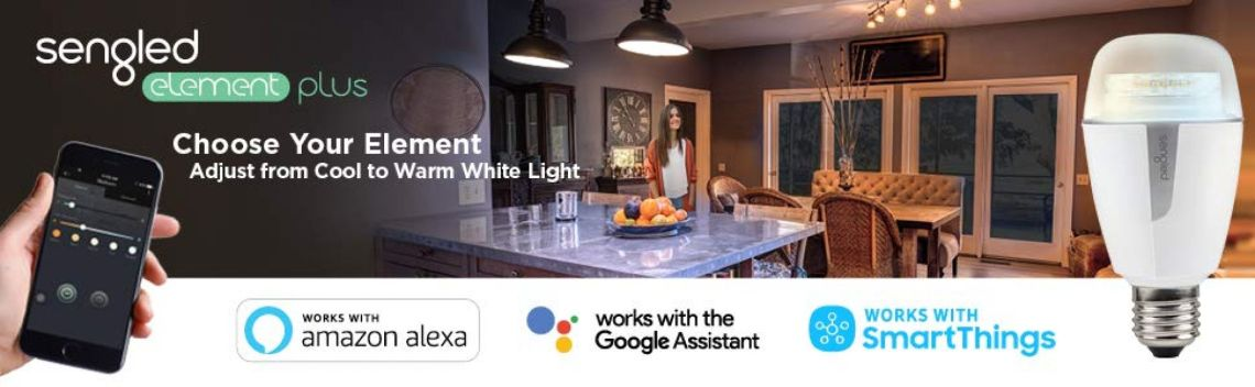 Sengled Element Plus Smart LED Light Bulb (Hub Required), A19 Dimmable LED Light Tunable White 2700-6500K 60W Equivalent, Works Alexa/Echo Plus/SmartThings / Google Assistant, 3 Pack - - Amazon.com