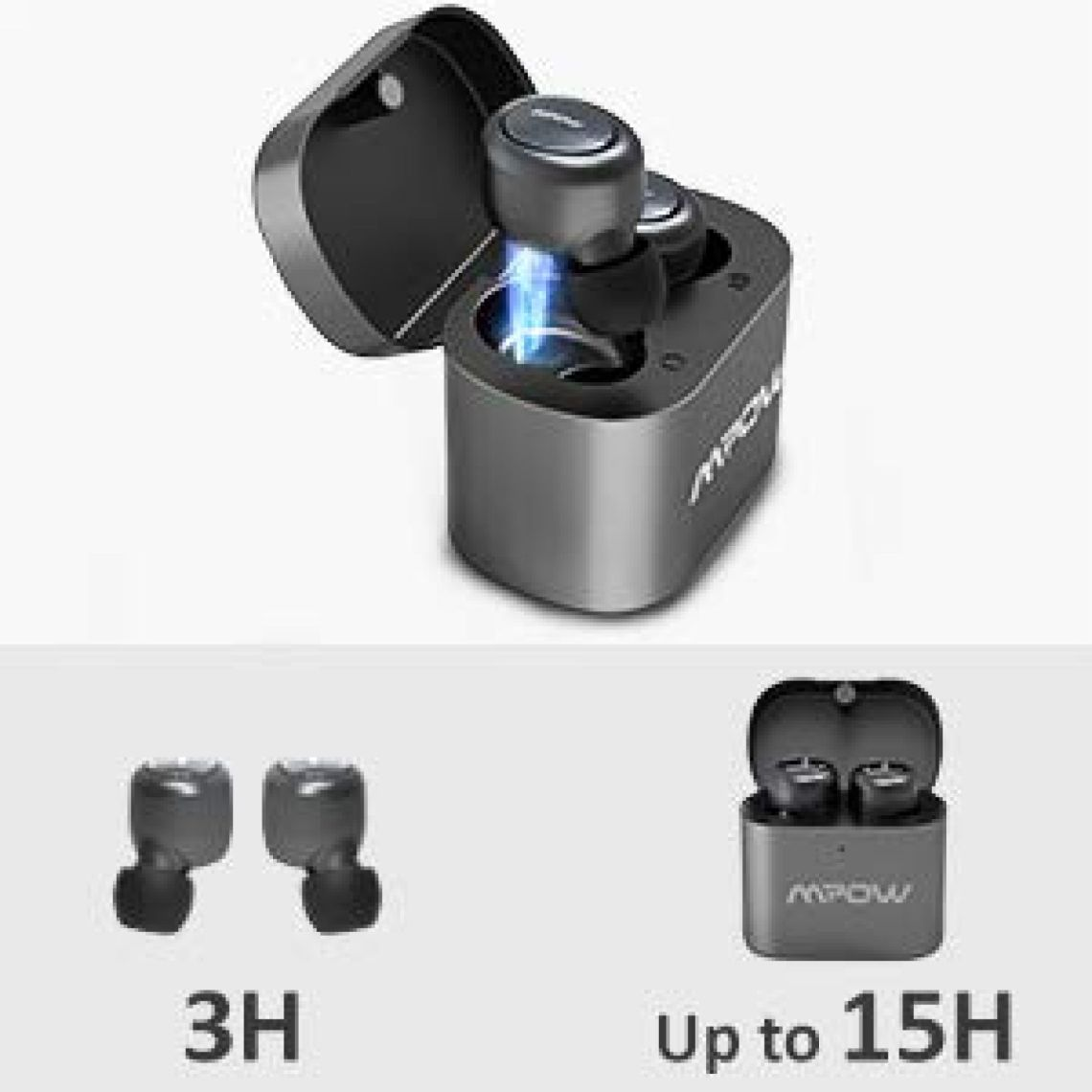 Amazon.com: Mpow Wireless Earbuds, TWS Bluetooth Headphone, True Wireless Earbuds, Bluetooth 5.0 Headset, Mini Smart Earbuds - Build-in Mic - HD Stereo Sound - 15Hrs Playtime -Compatible with Cell Phone: Cell Phones & Accessories