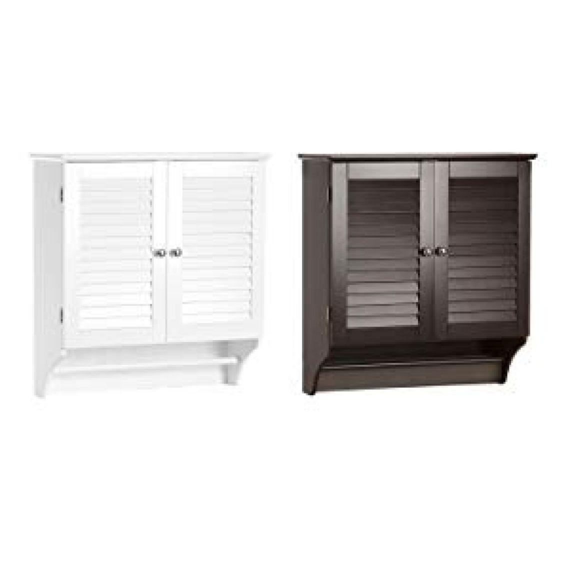 Amazon.com: RiverRidge Ellsworth Collection Two-Door Wall Cabinet, White: Kitchen & Dining
