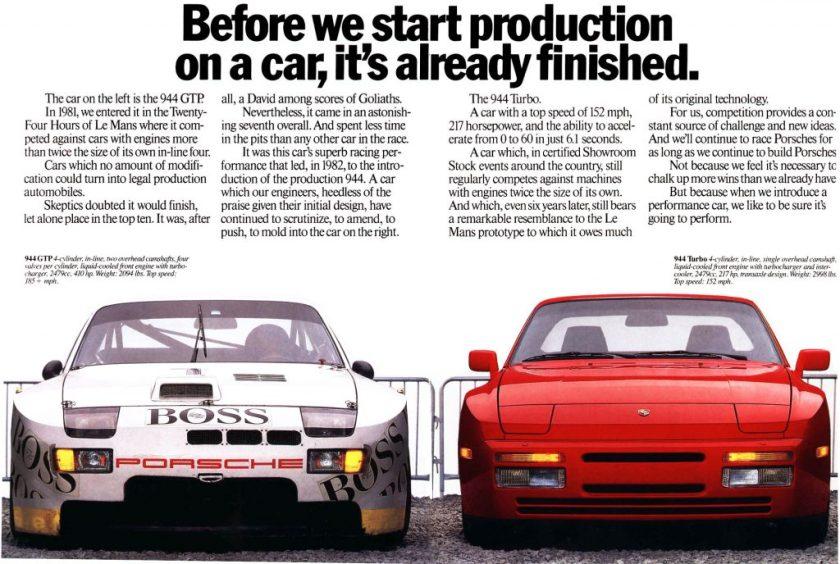 Porsche 944 GTP & Porsche 944 Turbo - From race car to production car