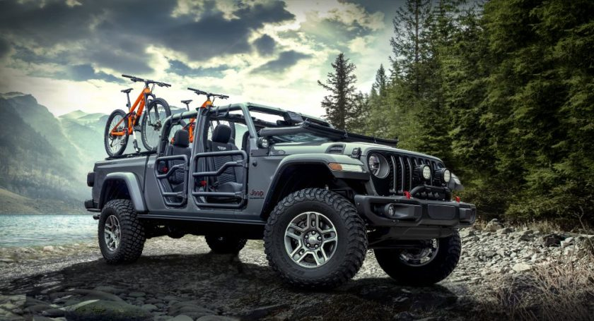 2020 Jeep Gladiator Rubicon doors off top off