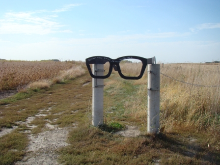 Entrance to the Buddy Holly crash site