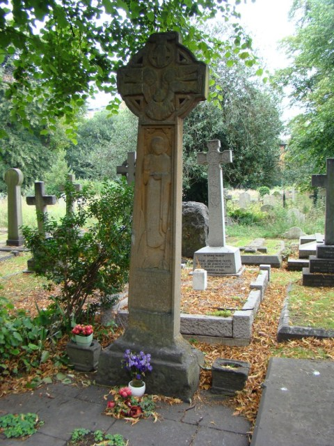 Emmeline Pankhurst—Brompton Cemetery (Hers was the most popular grave in Brompton, now supplanted by the grave of a Russian Orthodox bigwig, and in need of some TLC.)