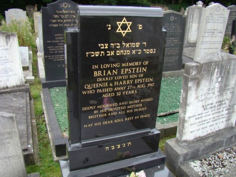 Former Beatles manager Brian Epstein—Everton Cemetery, Liverpool