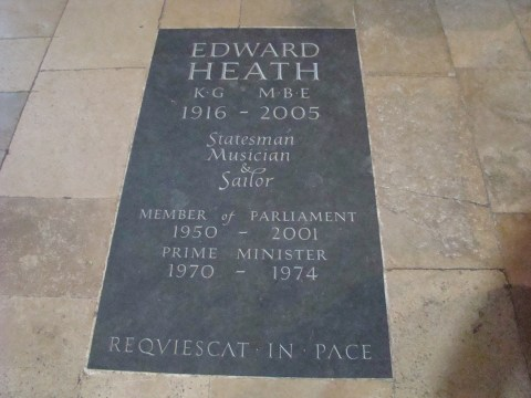 Sir Edward Heath—Salisbury Cathedral