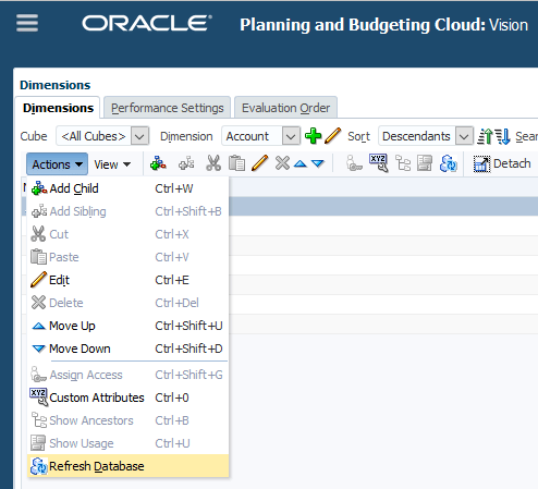 Oracle EPM Cloud Metadata Imports, Exports and Jobs