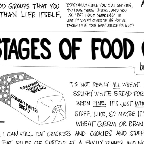 5 stages of food grief