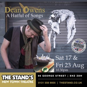 Flyer for Dean Owens' Hatful of Songs shows at Edinburgh Fringe 2019