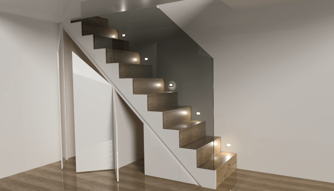 Oak & Glass Staircase Dean Watson Bespoke Interiors
