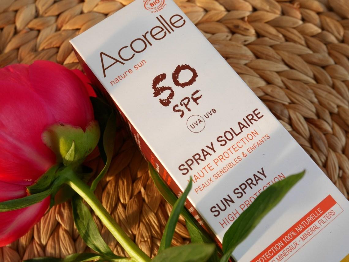Acorelle sun spray spf50